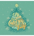 Christmas eve party invitation vector image