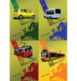 transport posters vector image vector image