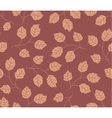 Seamless pattern autumn leaves colored in modern vector image