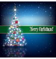 Celebration greeting with illuminated Christmas vector image