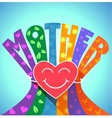 love of a mother vector image