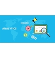 analytics and maintain website traffic graph vector image