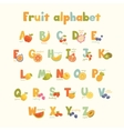 Full cute alphabet for kids in bright vector image