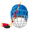 accessories for play hockey vector image