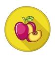 Apple flat icon vector image