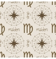 Astrology sign Maiden Seamless pattern vector image