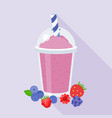 berries smoothie vector image