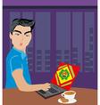 Computer virus attacking laptop vector image