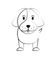 dog cartoon icon image vector image