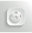 Football icon - white app button vector image