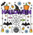 halloween attributes vector image