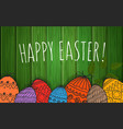 Happy easter greeting card poster vector image