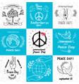 international peace day september 21 set of vector image