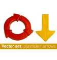Set of plasticine arrows for your design vector image