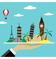 Travel Modern flat design vector image