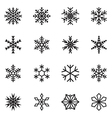 Snowflake icons vector image