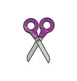 scissors cut utensil vector image