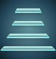 neon glass shelves vector image vector image