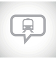 Train grey message icon vector image