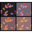 autumn sidewalk vector image