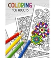 Adult coloring book design for cover vector image