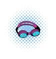 Goggles for swim icon comics style vector image