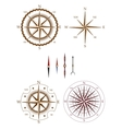 Set of compass elements vector image