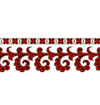 a red ethnic seamless border vector image