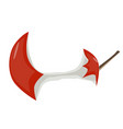 apple red stump flat icon cartoon of icon for web vector image