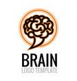 brain cloud logo template vector image