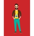 Hipster Photographer journalist flat character vector image
