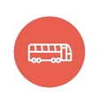 Tourist bus thin line icon vector image