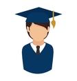 man graduate graduation education achievement icon vector image vector image