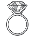 Diamond ring - ring with diamond vector image vector image