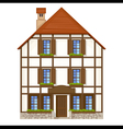 old style house vector image