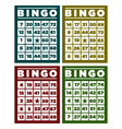 Bingo Retro Cards vector image