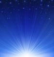 Blue Sunburst Poster vector image vector image
