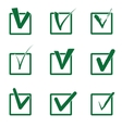 Checkboxes vector image