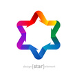 rainbow Star of David with arrows on white vector image