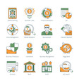 Modern Business Thin Line Icons vector image