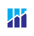 abstract finance arrow logo vector image