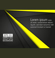 abstract geometric black and yellow color vector image