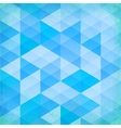 Abstract grunge blue triangles background vector image