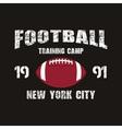 American football New York training camp badge vector image