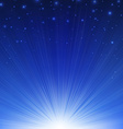 Blue Sunburst Poster vector image