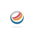 e internet technology circle logo vector image
