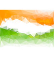 indian flag low poly background orange green vector image