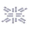 Isometric USB flash-drive vector image