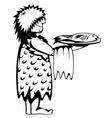 Paleo waiter vector image