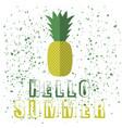 pineapple icon typography design vector image